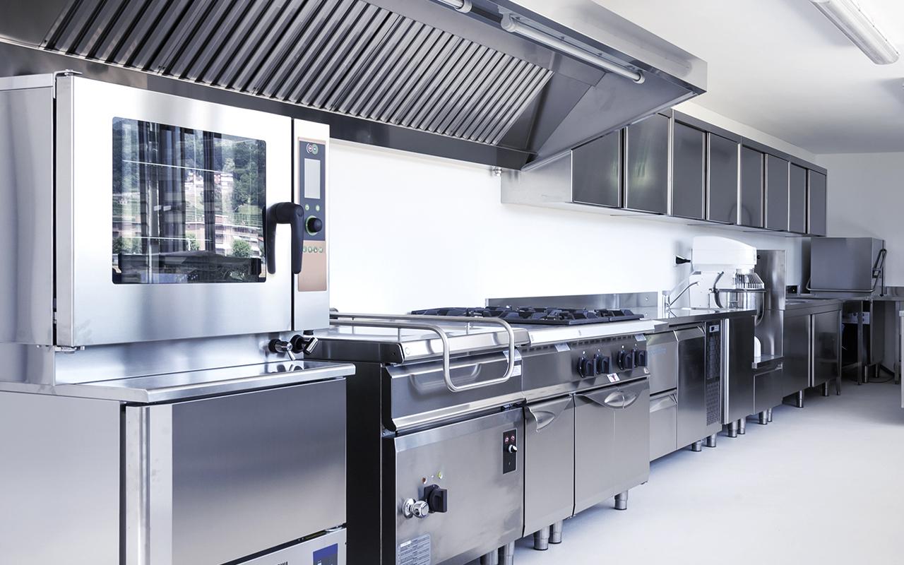 Weisser Großküchentechnik Gemeinschaftsverpflegung Chromnickel Küche
